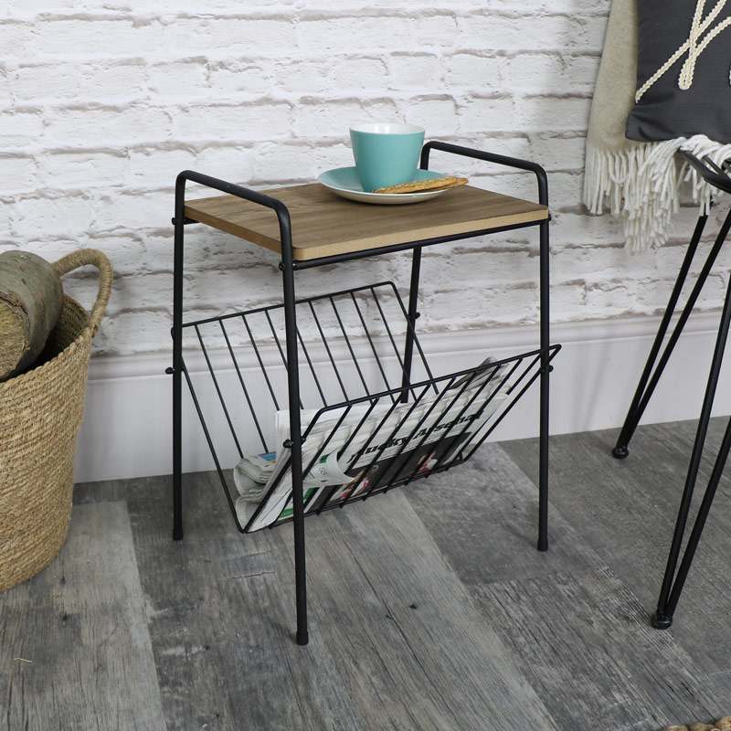 Vintage Retro Magazine Rack Table - Melody Maison®