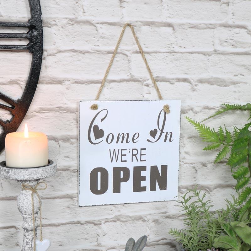 Vintage Reversible Open/Closed Door Sign