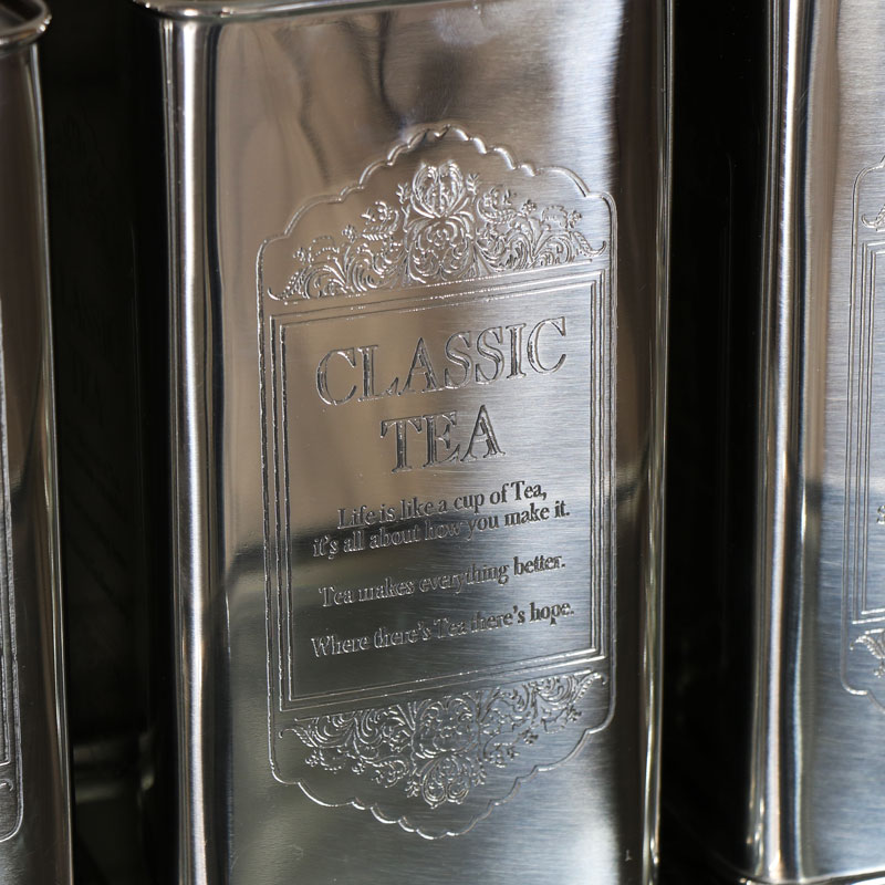 Vintage Silver Tea, Coffee, Sugar Storage Cannisters