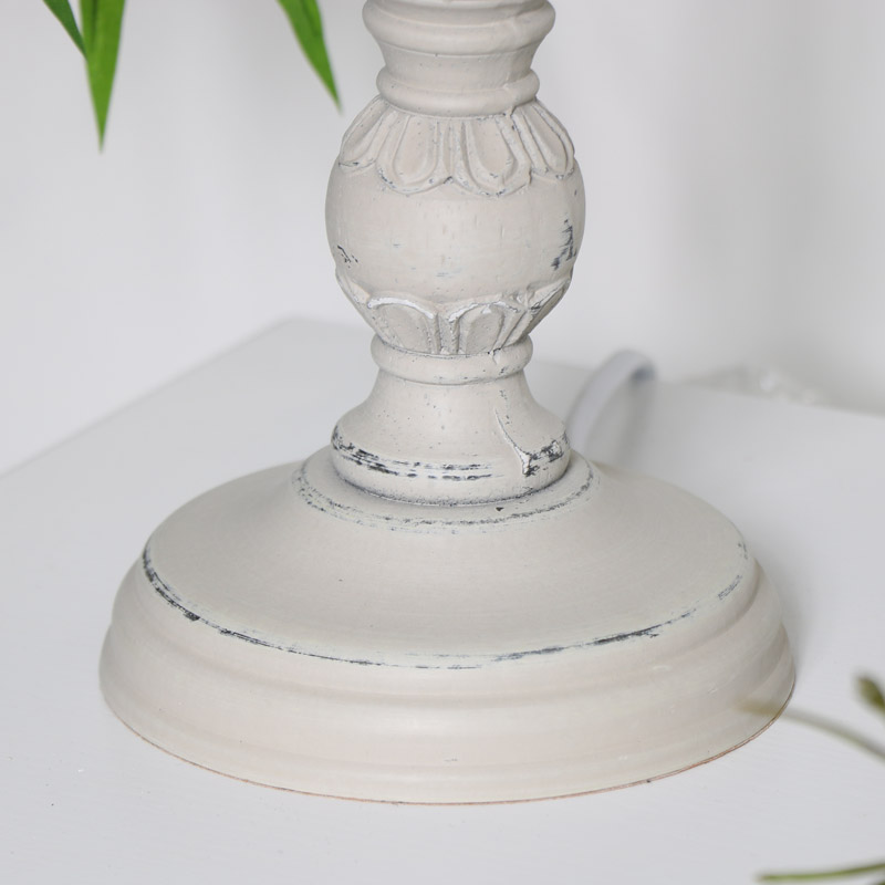 Vintage Style Table Lamp - Stone Grey
