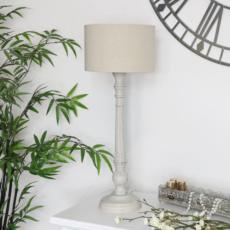 finest selection 8daad d809f Vintage Style Table Lamp - Stone Grey