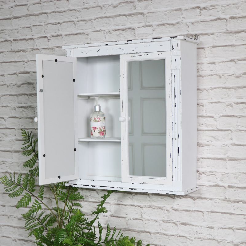 retro bathroom cabinets uk vintage white mirrored bathroom wall cabinet melody maison 174 25555
