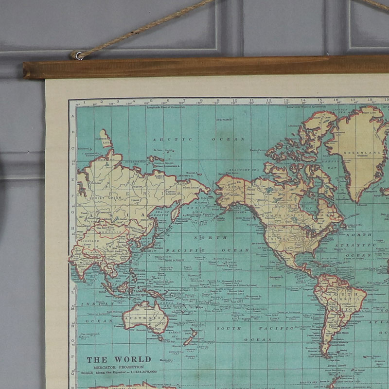 Vintage world map hanging canvas print melody maison vintage world map hanging canvas print vintage world map hanging canvas print gumiabroncs Images