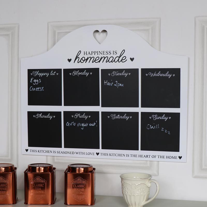 Wall Mounted Chalk Board Weekly Planner