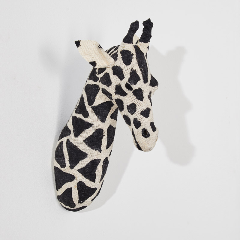 Wall Mounted Cotton Giraffe Head