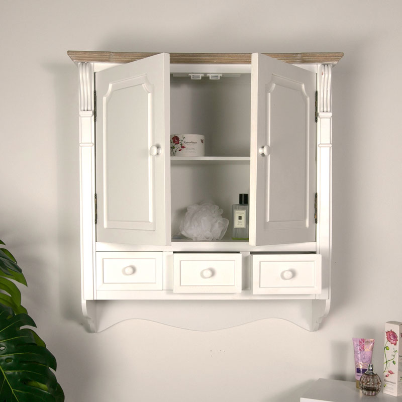 Wall Mounted Cupboard with Drawers
