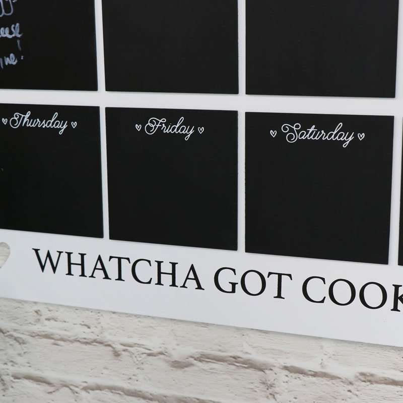Wall Mounted Kitchen Chalk Board Weekly Planner