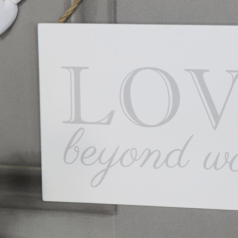 "Wall Mounted Plaque ""Love Beyond Words"""