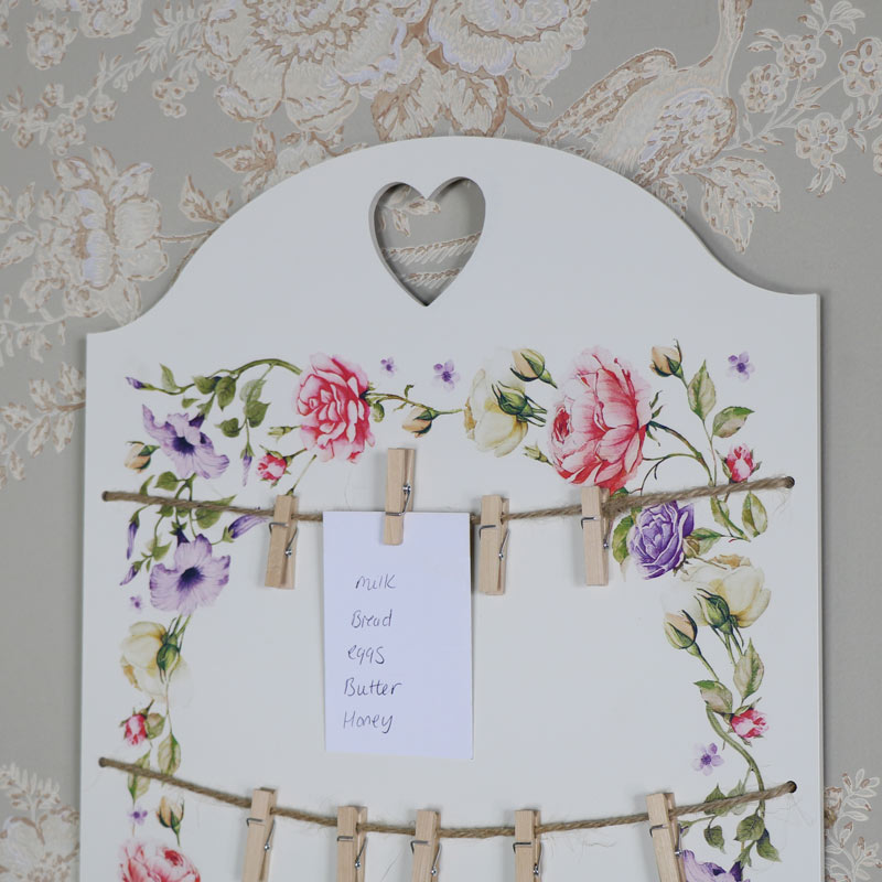Wall Mounted Vintage Floral Memo Board