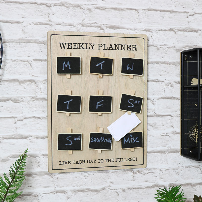 'Weekly Planner' Wall Mounted Memo Board