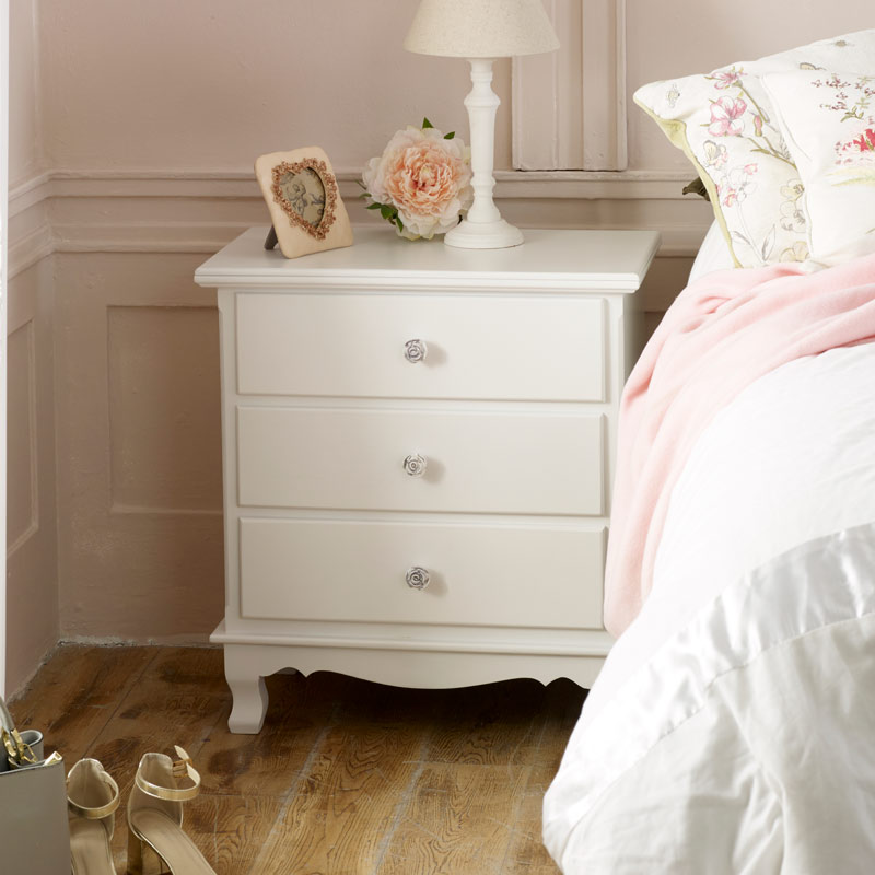 White 3 Drawer Chest of Drawers - Lila Range