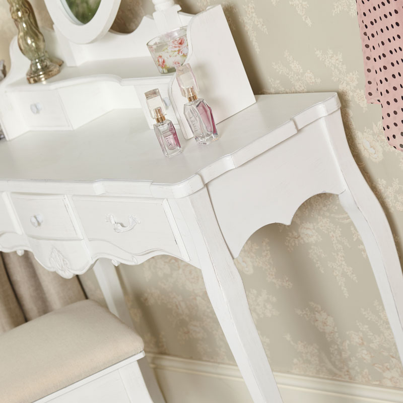 White 3 Drawer Dressing Table - Jolie Range