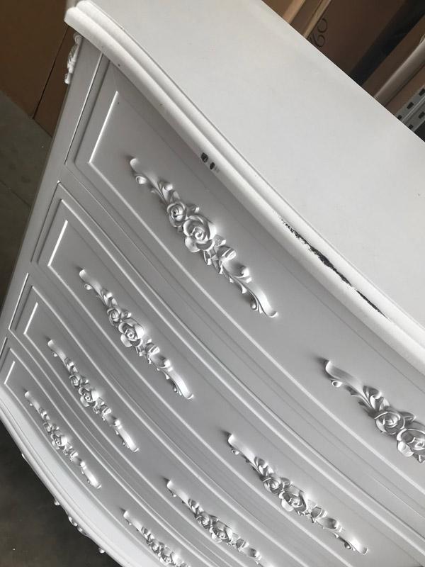 White 4 Drawer Chest - Rose Range DAMAGED SECONDS ITEM 3032