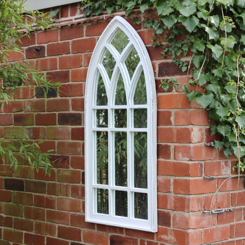 White Arched Window Mirror Melody Maison 174
