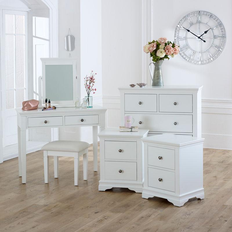 White Furniture Set Newbury White Range Melody Maison