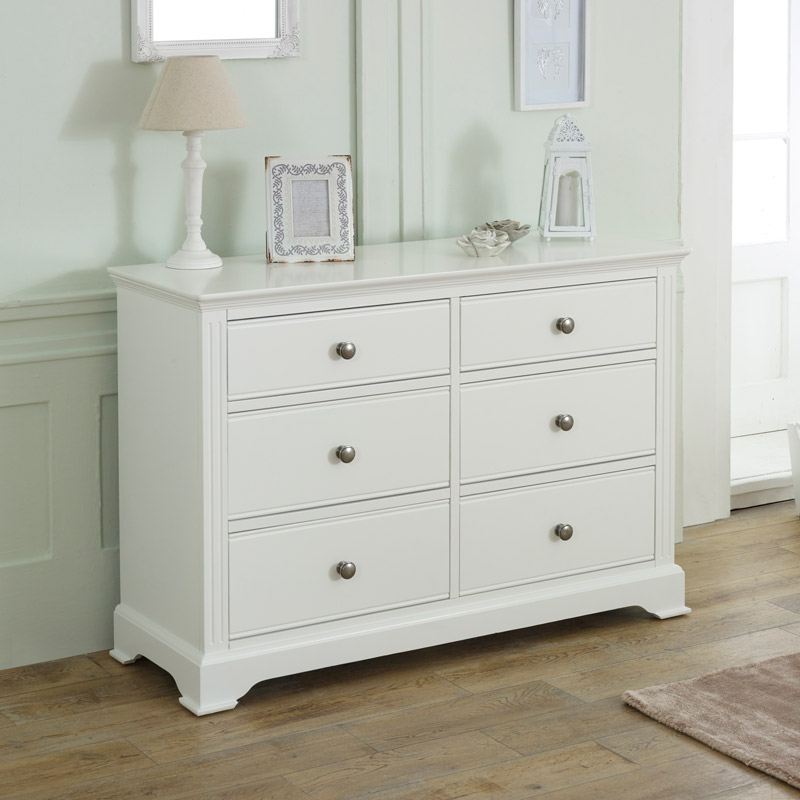 White Bedroom Furniture, Double Wardrobe, Large Chest of Drawers, Bedside Tables - Davenport White Range