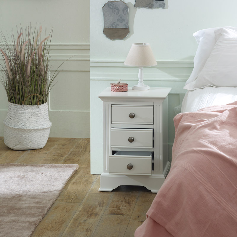 White Bedside Table - Davenport White Range