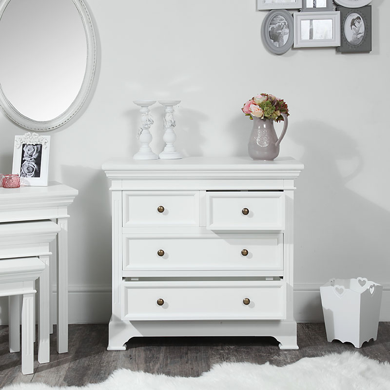 White Chest of Drawers - Daventry White Range