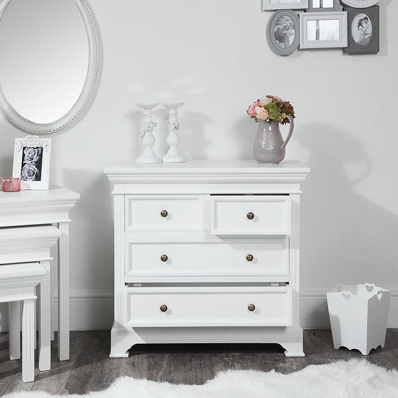 White Chest of Drawers - Daventry White Range