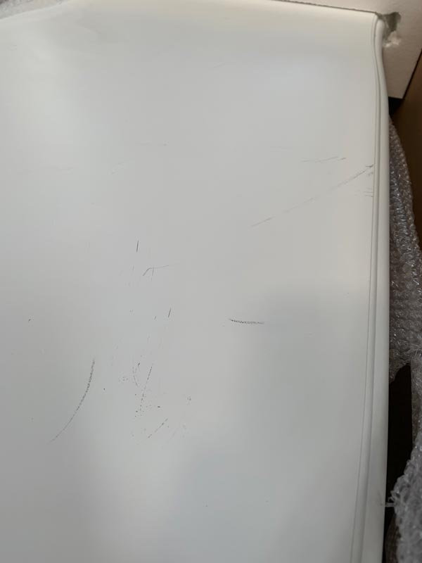 White Chest of Drawers - Victoria Range DAMAGED SECOND 1096