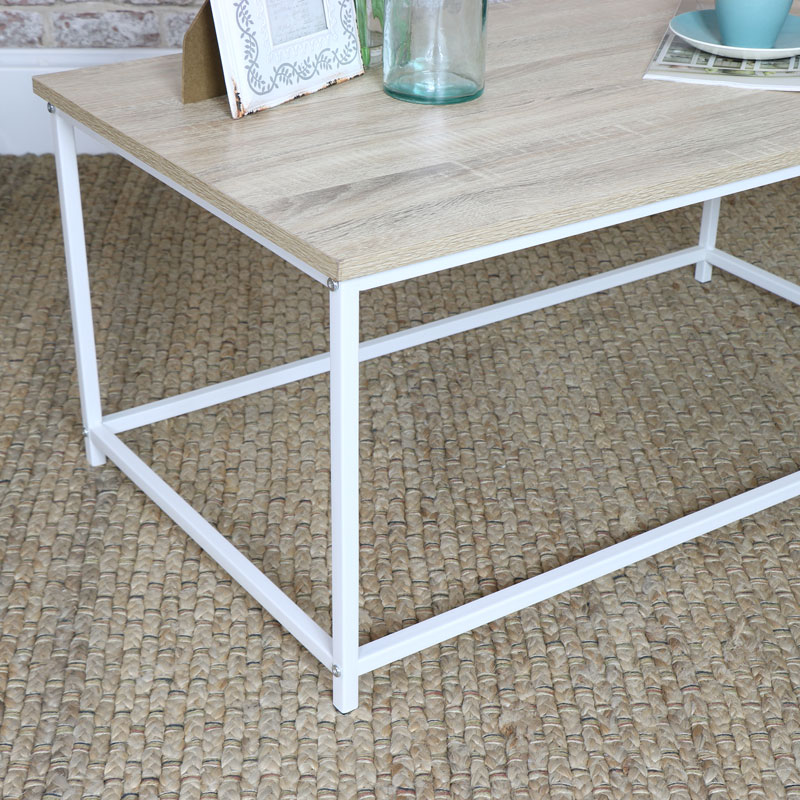 White Coffee Table - Living Room Furniture
