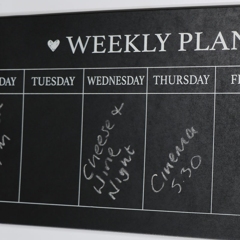 White Days of the Week Chalk Board