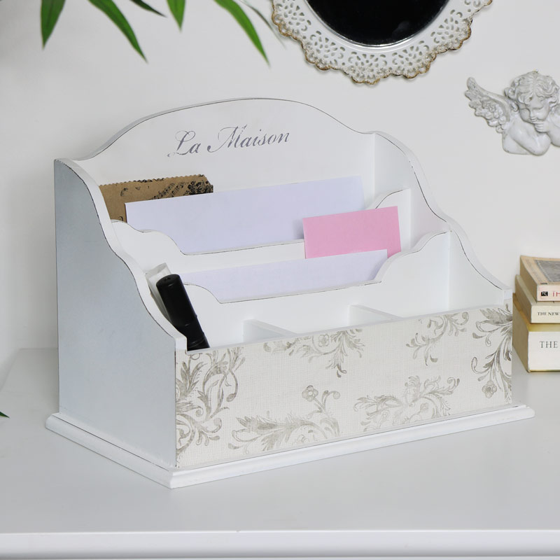 White Desk Organiser