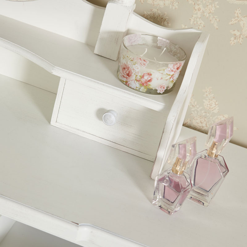White Dressing Table Set - Jolie Range