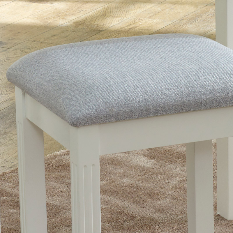 White Dressing Table Stool - Davenport White Range