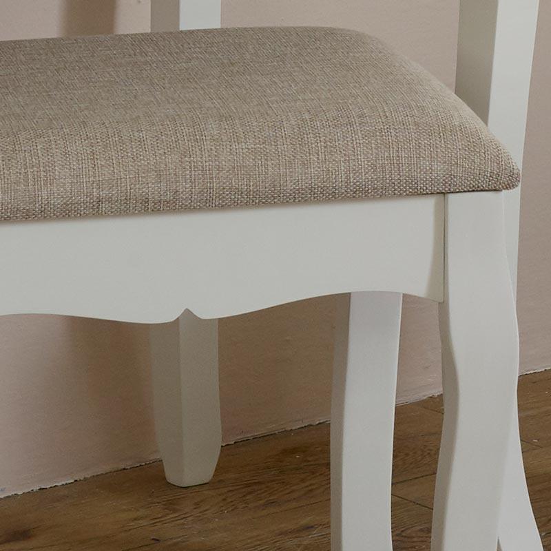 White Dressing Table Stool - Lila Range
