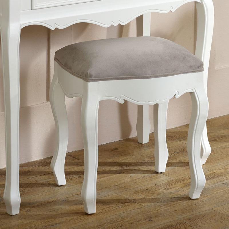 White Dressing Table & Stool Set - Victoria Range