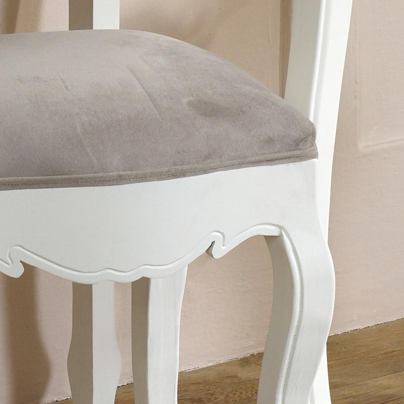 White Dressing Table Stool - Victoria Range