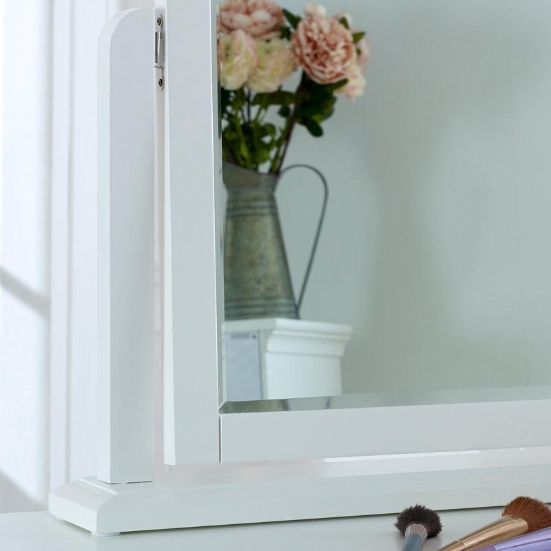 White Dressing Table Vanity Mirror - Newbury White Range