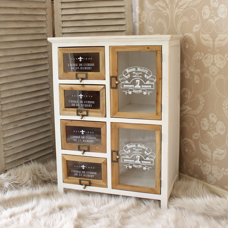 White French Storage Unit