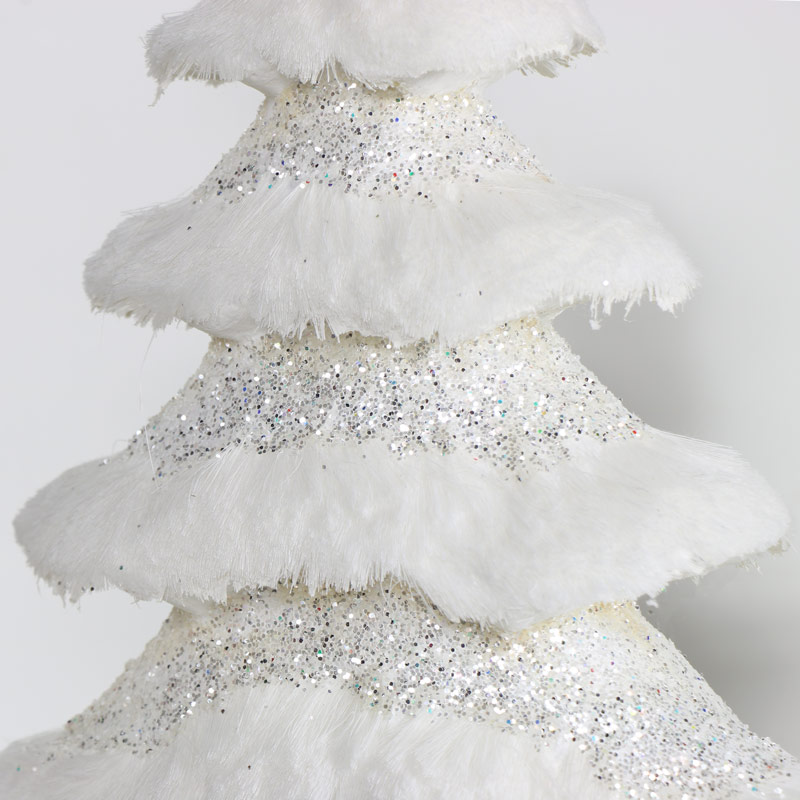 White Glitter Christmas Tree - Large