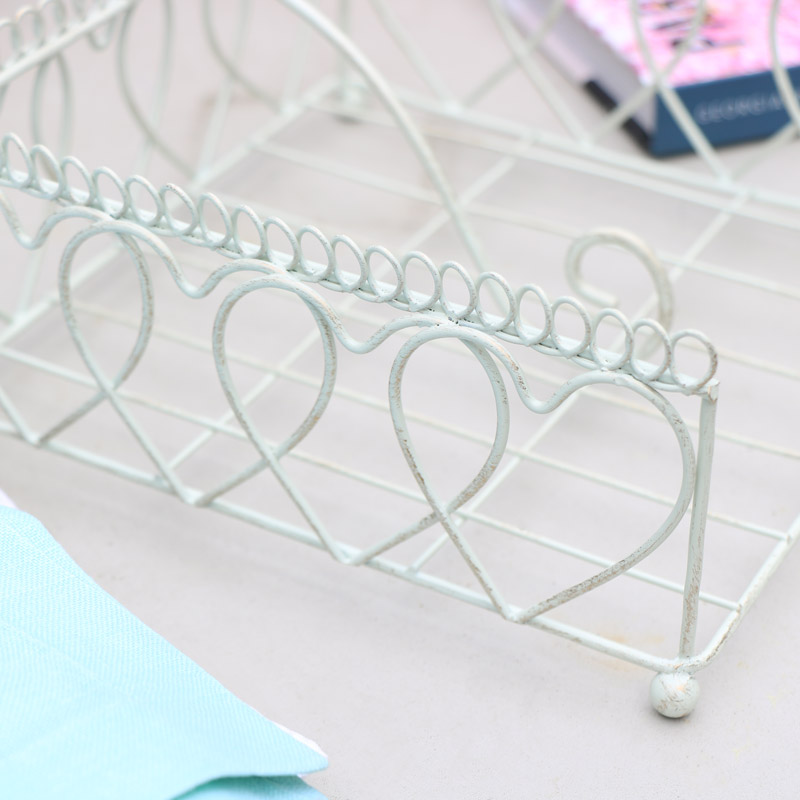 Cream Metal Napkin Holder