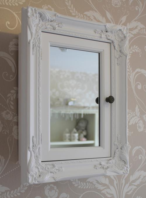 white bathroom storage cabinet with mirror shabby vintage cupboard