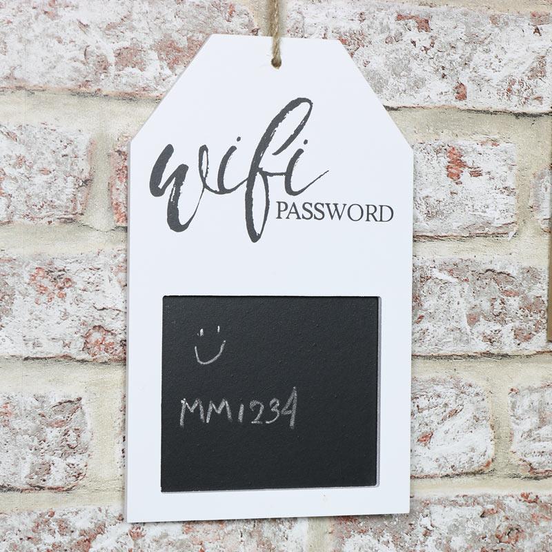 White Wi-Fi Password Blackboard