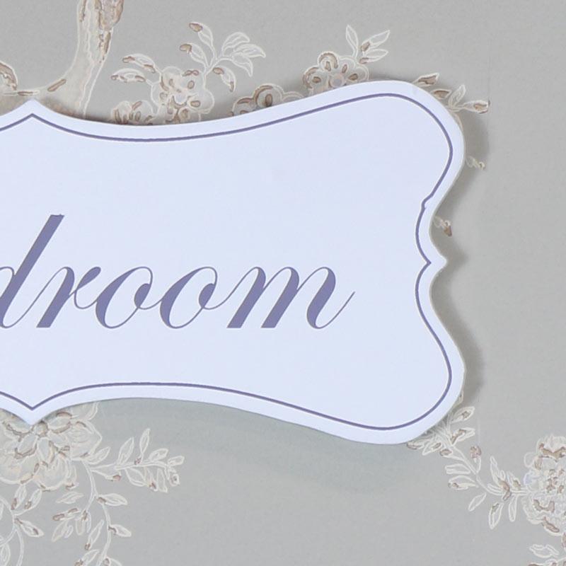 White Wooden 'Bedroom' Door Plaque