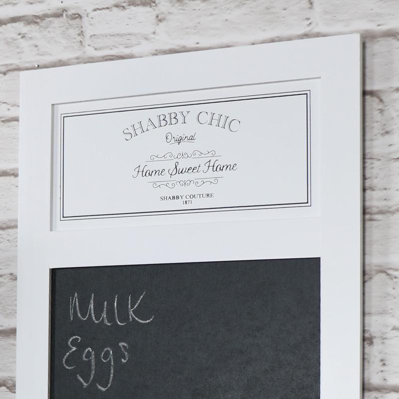 White Wooden Chalk Board