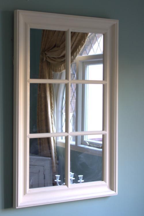Cream Large Wall Mirror Window Frame Shabby French Chic Ebay
