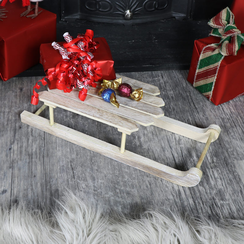 Small Wooden Christmas Sleigh
