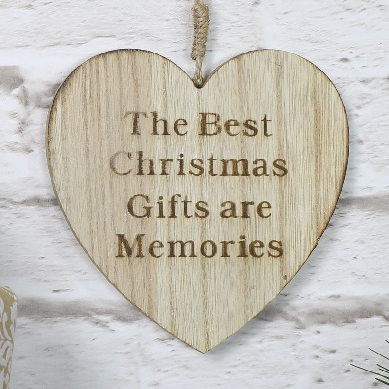 Wooden Christmas Gifts Hanging Heart