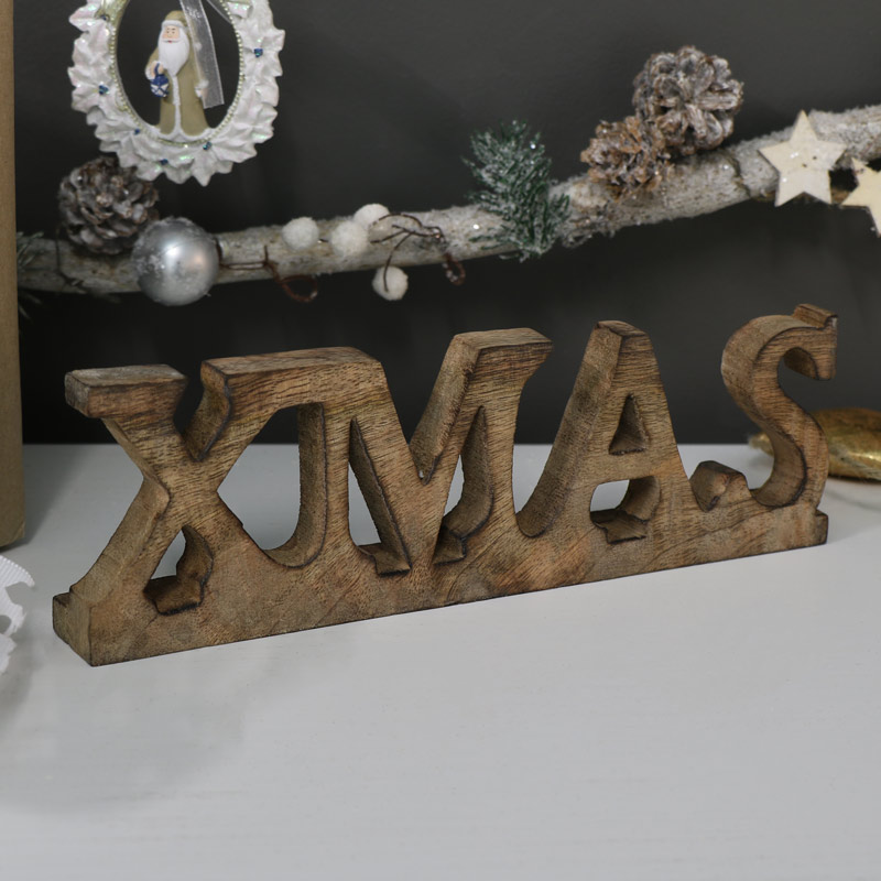 Wooden Freestanding Xmas Sign