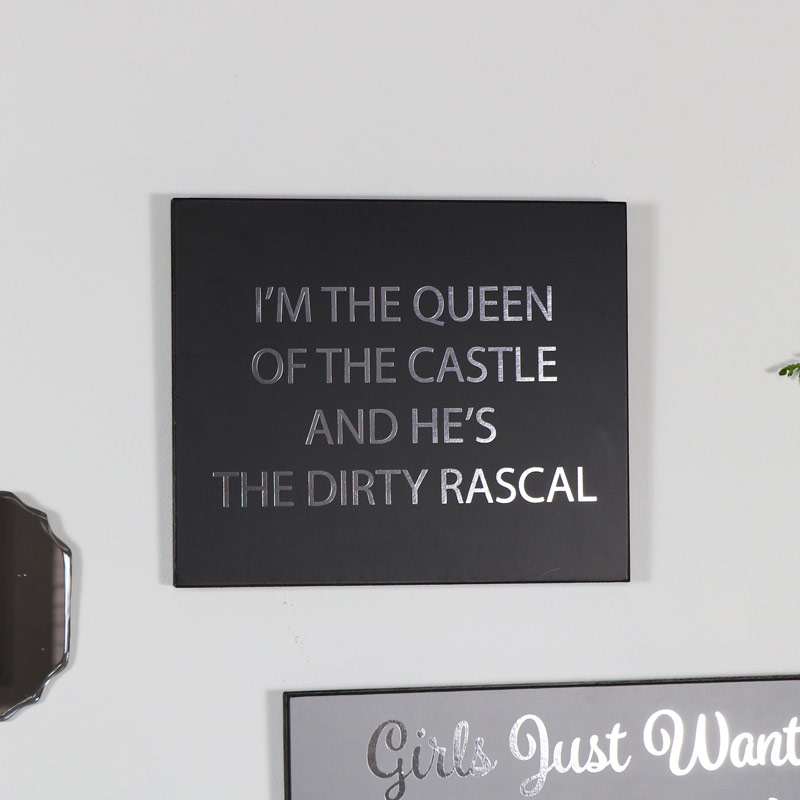 "Wooden Wall Plaque ""Queen of the Castle...."""