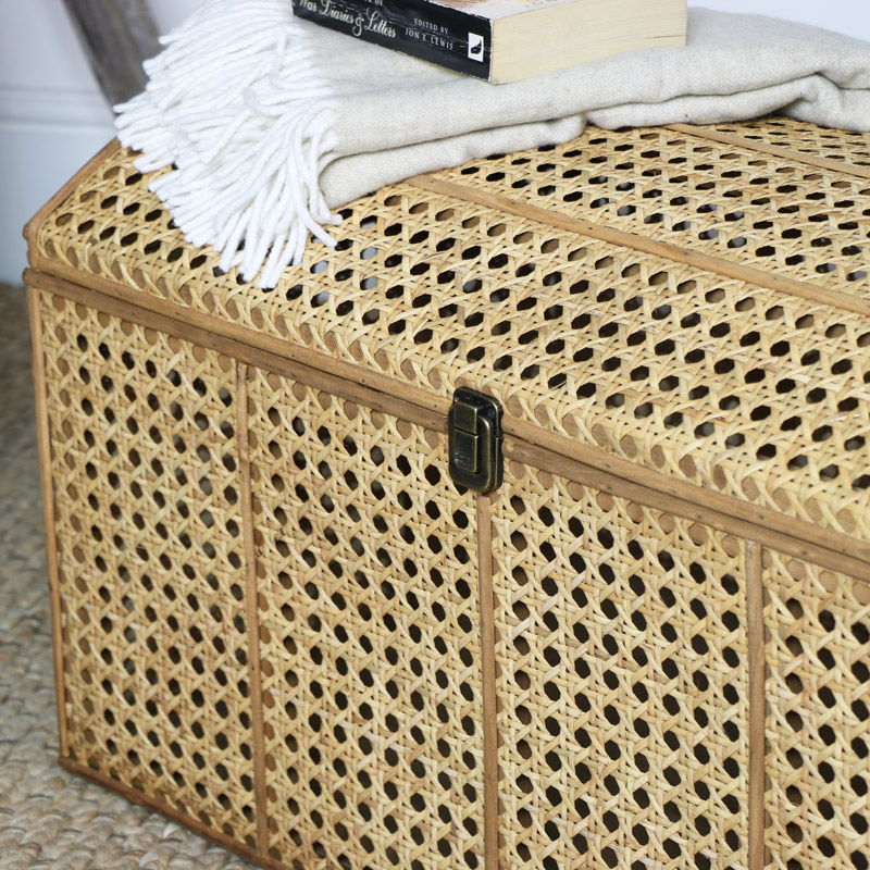 Woven Rattan Storage Trunk, Wicker Storage Trunks And Chests