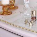 Square Gold Rimmed Glass Plate