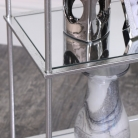 3 Tier Silver Mirrored Shelving