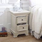 2 Drawer Grey Bedside Table - Daventry Taupe-Grey Range