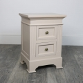 2 Drawer Grey Bedside Table - Daventry Taupe-Grey Range SECONDS ITEM